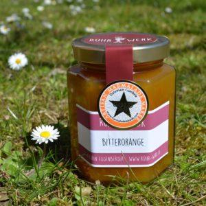 Bitterorangen Fruchtaufstrich, mit Gold Award Stern von den World's original Marmelade Awards, die jedes Jahr in Dalemain England stattfinden.