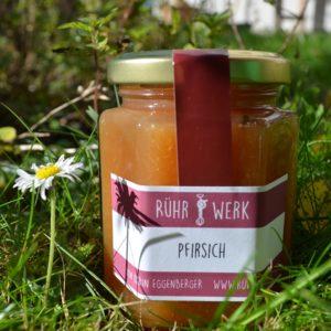 Fruchtaufstrich aus Thurgauer Pfirsichen. Diese sind wunderbar aromatisch und erst noch regional.