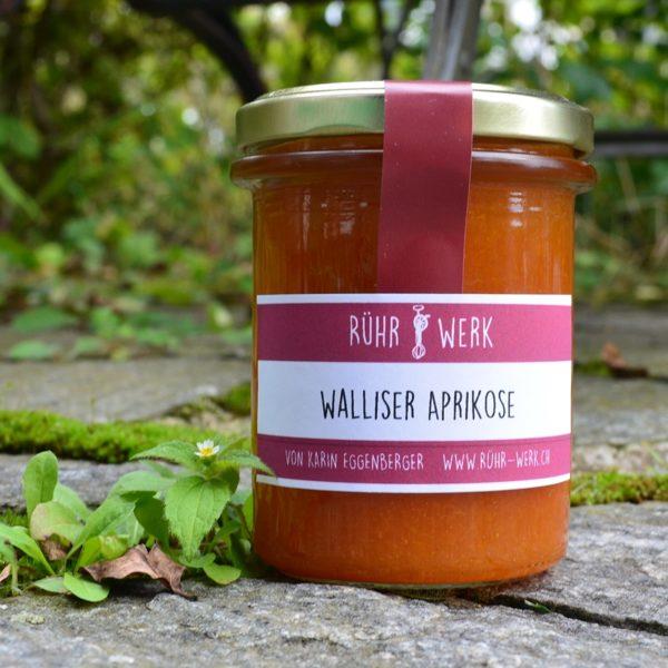 Aprikosenfruchtaufstrich mit Walliser Aprikosen