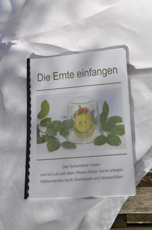 Rezept und Anleitungsheft von Ursula Jampen, Ernte einfangen.