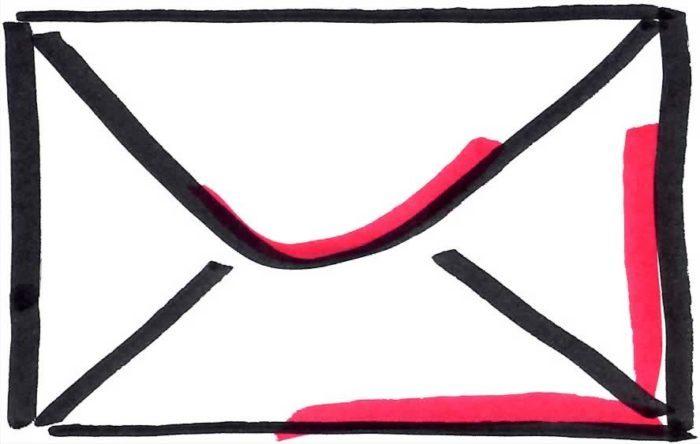 Pictogramm Brief für E-Mail