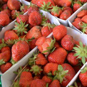 Erdbeeren für den Erdbeerfruchtaufstrich mit wenig Zucker und viel Frucht. Genuss pur.