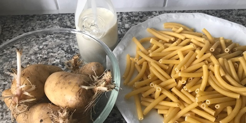 Kartoffeln, Nudeln, Rahm
