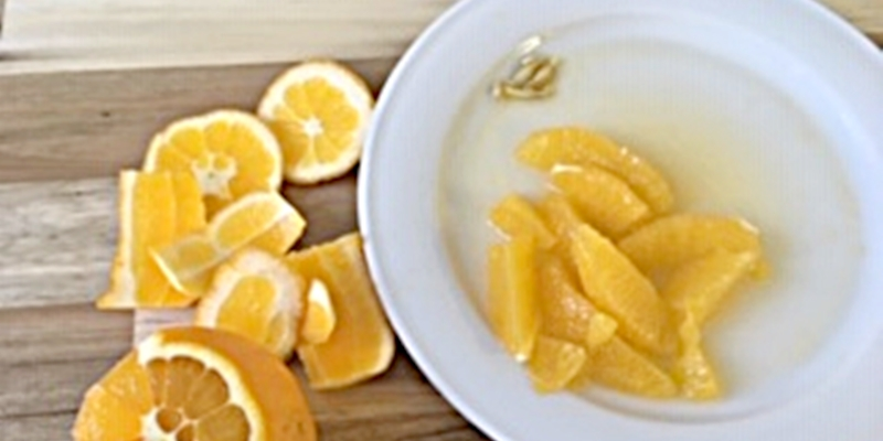 Filetierte Orangen